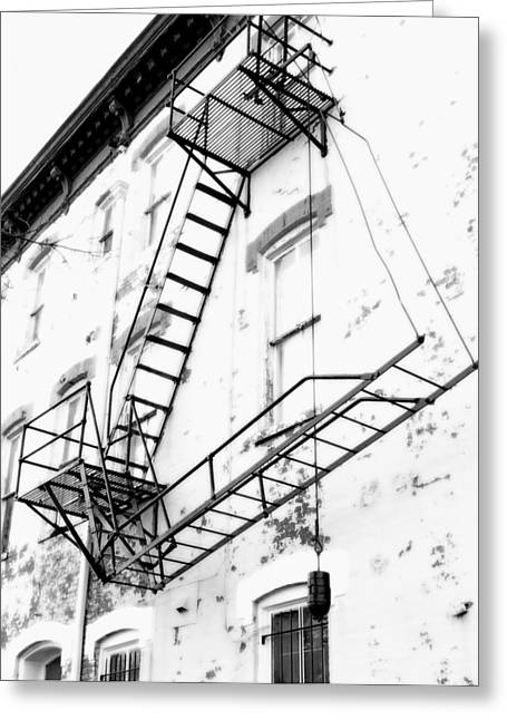 D.w Greeting Cards - Capitol Hill Fire Escape Greeting Card by Steven Ainsworth