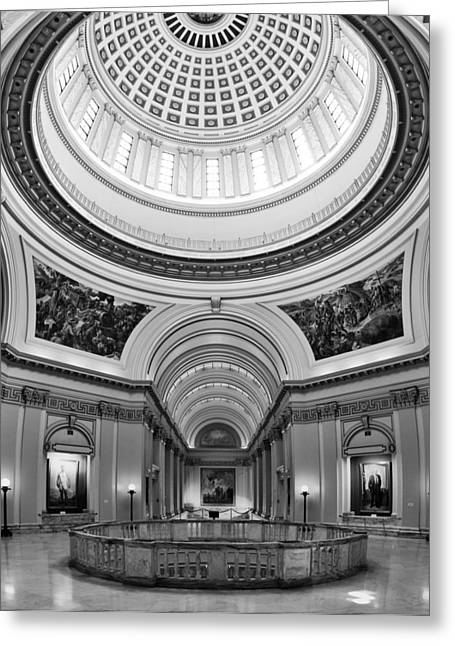 Public Administration Greeting Cards - Capitol Interior Greeting Card by Ricky Barnard