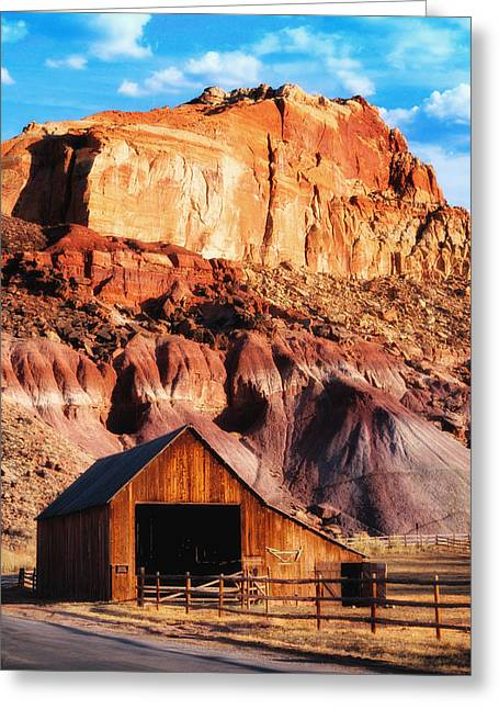 Capitol Greeting Cards - Capitol Reef National Park UT Greeting Card by Utah Images