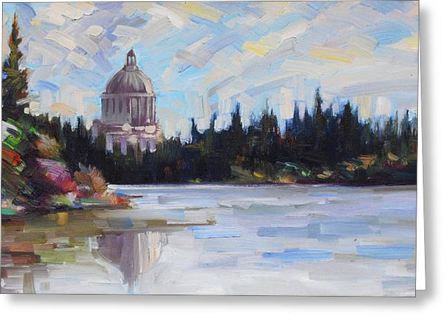 Olympia Washington Greeting Cards - Capitol Reflections Greeting Card by Gregg Caudell