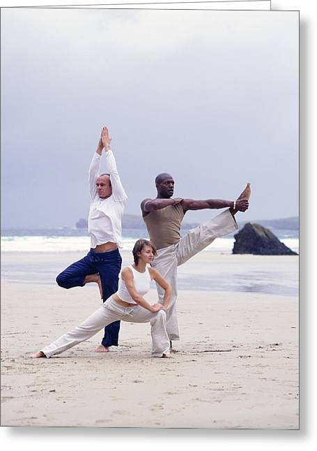 Sporting Activities Greeting Cards - Capoeira And Yoga Greeting Card by Tony Mcconnell