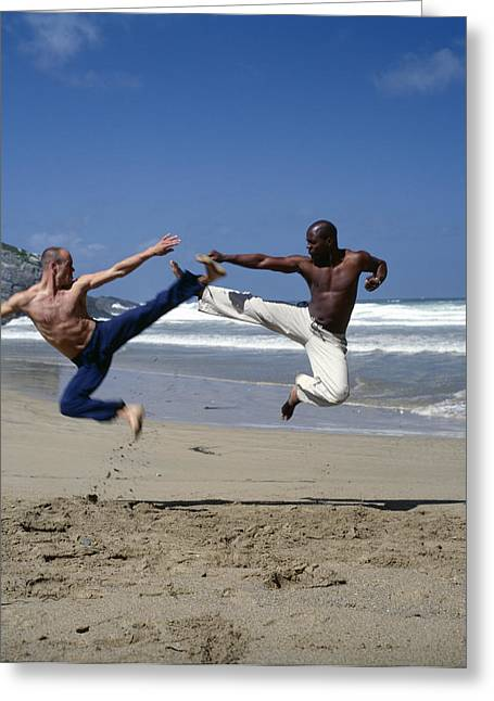 Rhythmic Greeting Cards - Capoeira Greeting Card by Tony Mcconnell