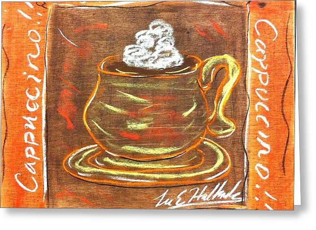 Cappaccino Greeting Card by Lee Halbrook