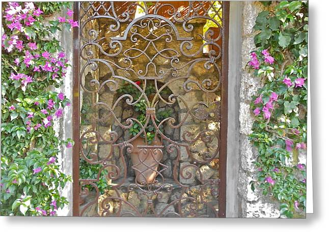 Capri-Timeless Gate Greeting Card by ITALIAN ART