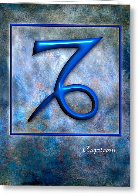Capricorn  Greeting Card by Mauro Celotti