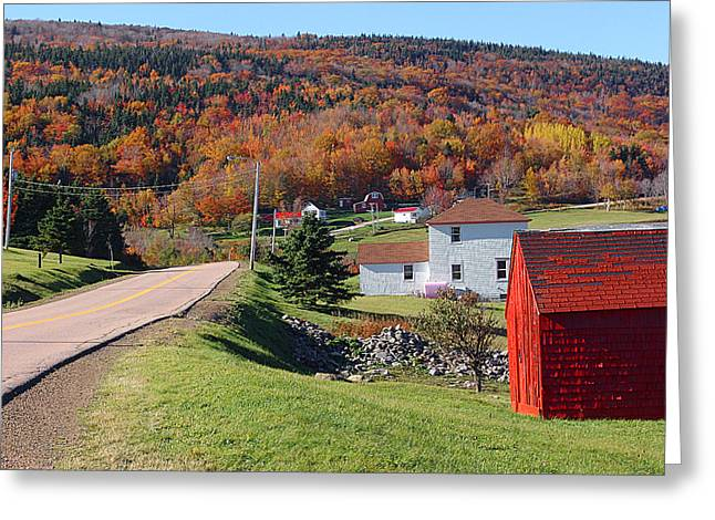 Capstick Greeting Cards - Capstick Village on Cape Breton Island Greeting Card by George Cousins