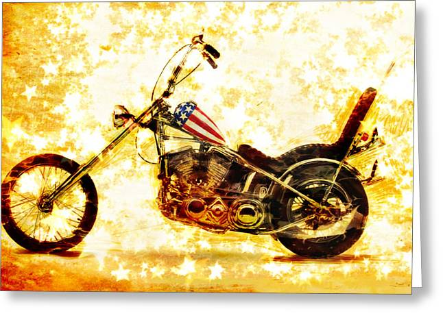 Striped Mixed Media Greeting Cards - Captain America Greeting Card by Russell Pierce