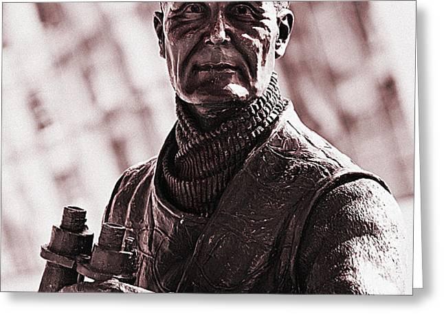 Captain F J Walker Greeting Card by Meirion Matthias