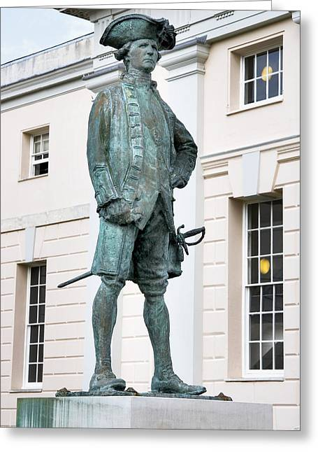 Statue Portrait Greeting Cards - Captain James Cook, British Explorer Greeting Card by Sheila Terry