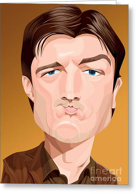 Joss Whedon Greeting Cards - Captain Malcolm Reynolds Greeting Card by Kevin Greene