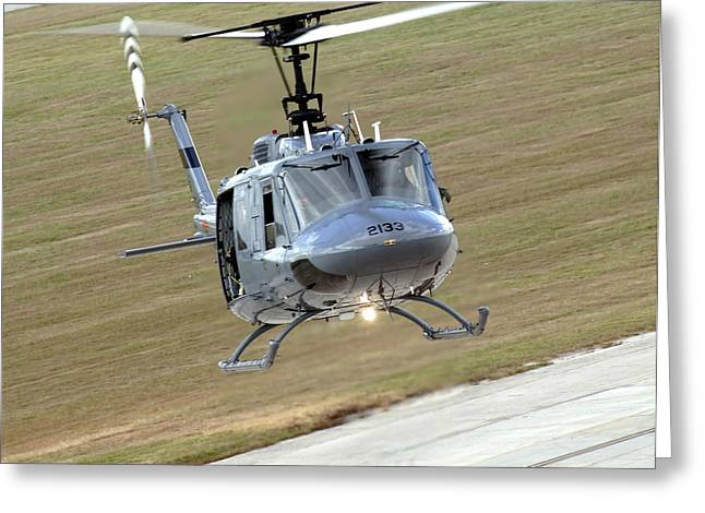 Utility Aircraft Greeting Cards - Captain Pilots The Th-1h Trainer Greeting Card by Stocktrek Images