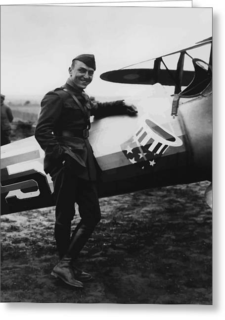Plane Greeting Cards - Captain Rickenbacker Greeting Card by War Is Hell Store