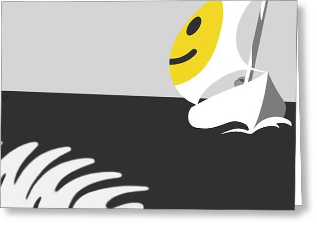 Tom Dickson Greeting Cards - Captain Smiley Greeting Card by Tom Dickson