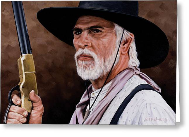 Western Greeting Cards - Captain Woodrow F Call Greeting Card by Rick McKinney