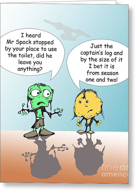 Smear Drawings Greeting Cards - Captains Log Greeting Card by Jack Norton