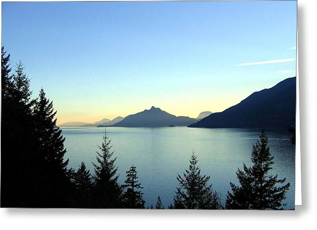 Captivating Howe Sound Greeting Card by Will Borden