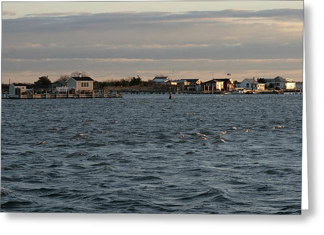 Long Island Photographs Greeting Cards - Captree Riptide Greeting Card by Christopher Kirby