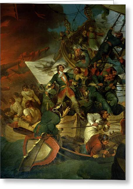 Boarding Greeting Cards - Capture of Azov Greeting Card by Sir Robert Kerr Porter