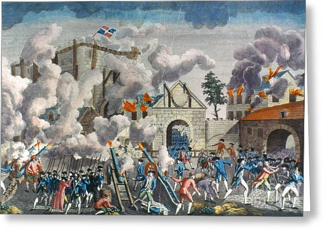 Bastille Photographs Greeting Cards - Capture Of Bastille, 1789 Greeting Card by Granger