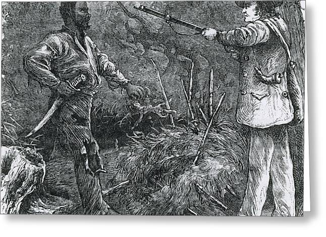 Slavery Greeting Cards - Capture Of Nat Turner, American Rebel Greeting Card by Photo Researchers