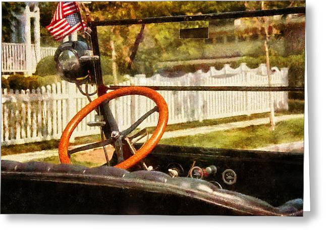 Present For You Greeting Cards - Car - Back to the old days Greeting Card by Mike Savad