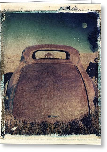 Polaroid Transfer Greeting Cards - Car and Moon Greeting Card by Joe  Palermo