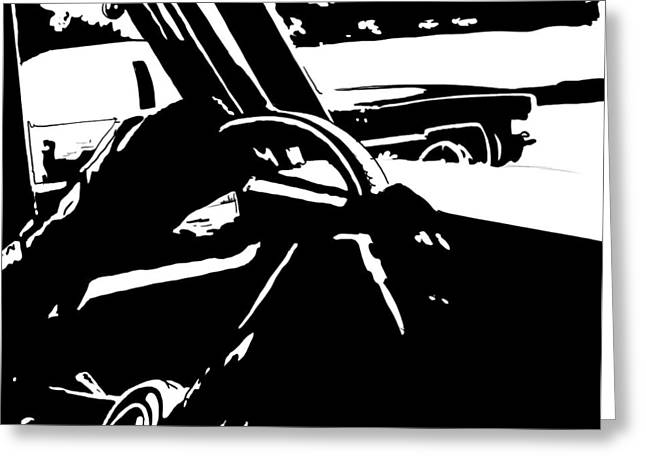 From Greeting Cards - Car Passing Greeting Card by Giuseppe Cristiano