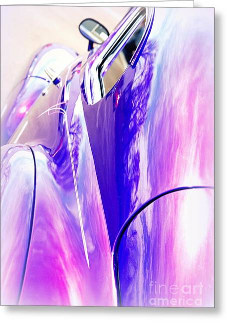 Auction Greeting Cards - Car Reflections Greeting Card by Susanne Van Hulst