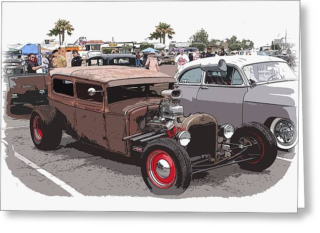1949 Plymouth Greeting Cards - Car Show 1928 Greeting Card by Steve McKinzie