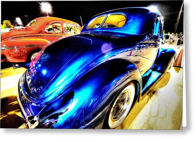 Automobile Greeting Cards - Car Show 3 Greeting Card by David Morefield