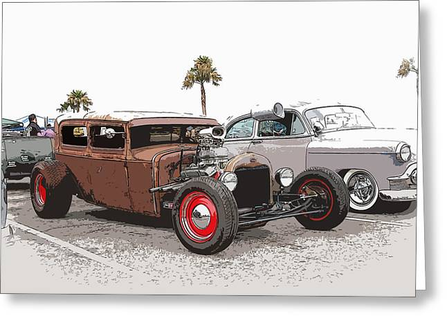 Best Sellers -  - 1949 Plymouth Greeting Cards - Car Show Cool Greeting Card by Steve McKinzie