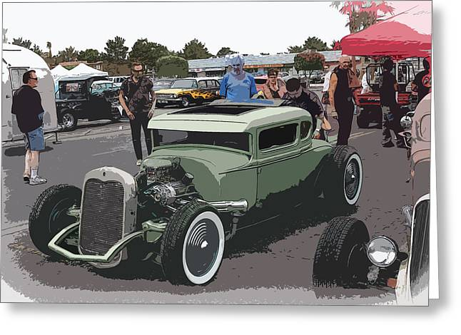Car Show Coupe Greeting Card by Steve McKinzie