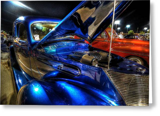 Houston Greeting Cards - Car Show Greeting Card by David Morefield