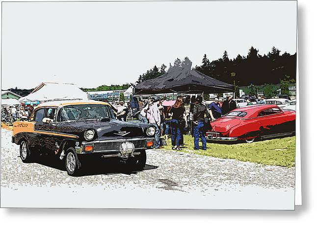 1932-1937 Greeting Cards - Car Show Gasser Greeting Card by Steve McKinzie