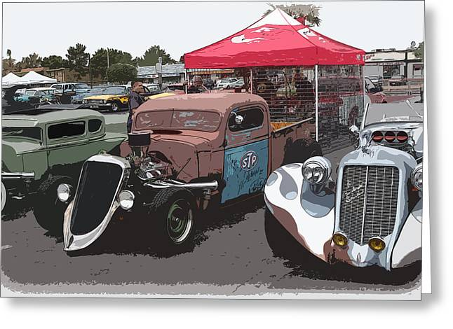 Car Show Hot Rods Greeting Card by Steve McKinzie