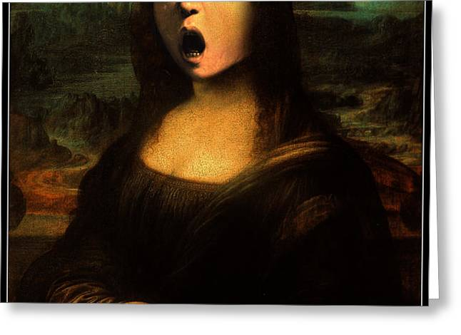 Caravaggio's Mona Greeting Card by Gravityx Designs