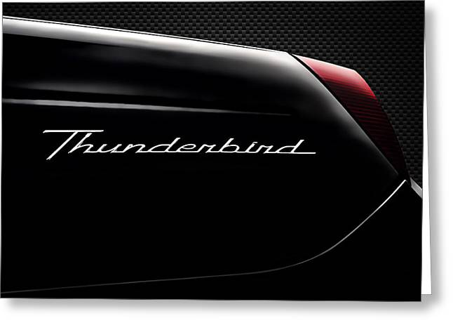 Thunderbird Greeting Cards - Carbon Black Thunder Greeting Card by Douglas Pittman