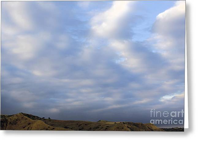 Yorba Greeting Cards - Carbon Canyon Hills and Big Sky Greeting Card by Viktor Savchenko