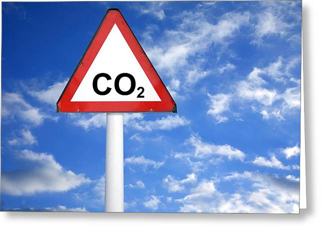 Carbon Dioxide Greeting Cards - Carbon Dioxide And Global Warming Greeting Card by Victor De Schwanberg