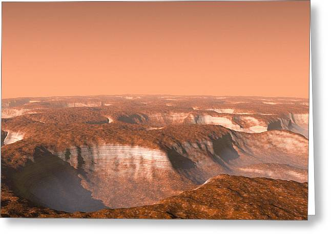 Carbon Dioxide Greeting Cards - Carbon Dioxide Ice On Mars, Artwork Greeting Card by Chris Butler