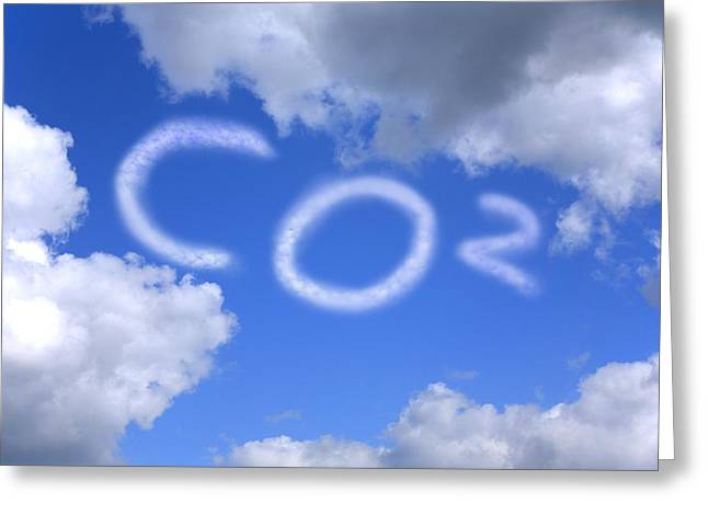 Carbon Dioxide Greeting Cards - Carbon Footprint Greeting Card by Victor De Schwanberg