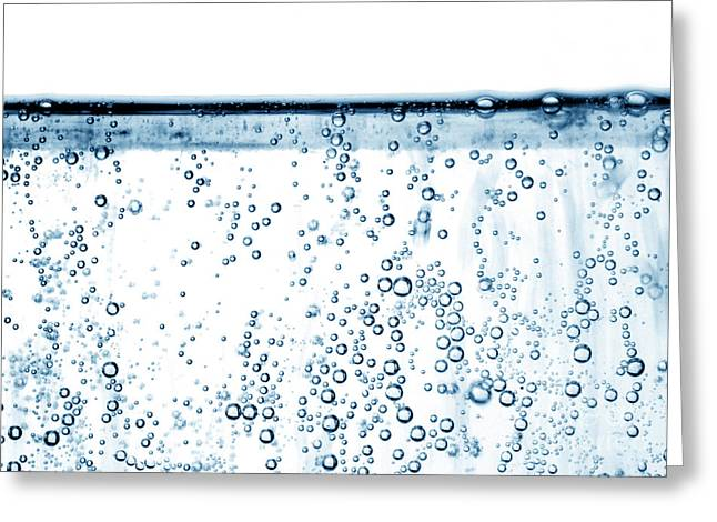 Carbonated Water Greeting Card by Photo Researchers, Inc.