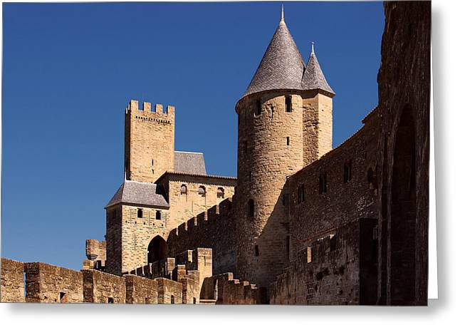 Carcassonne Greeting Cards - Carcassonne Castle Greeting Card by Joe Bonita