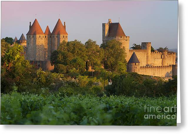 Carcassonne Greeting Cards - Carcassonne Dawn Greeting Card by Brian Jannsen