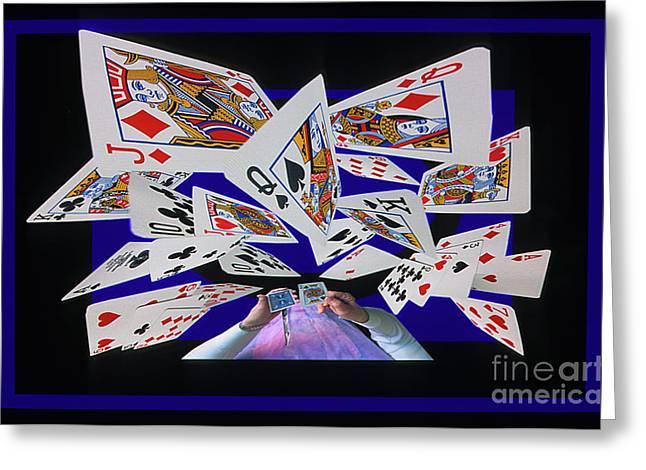 Card Tricks Greeting Card by Bob Christopher