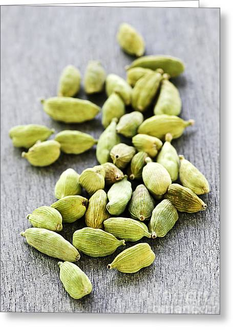 Loose Greeting Cards - Cardamom seed pods Greeting Card by Elena Elisseeva