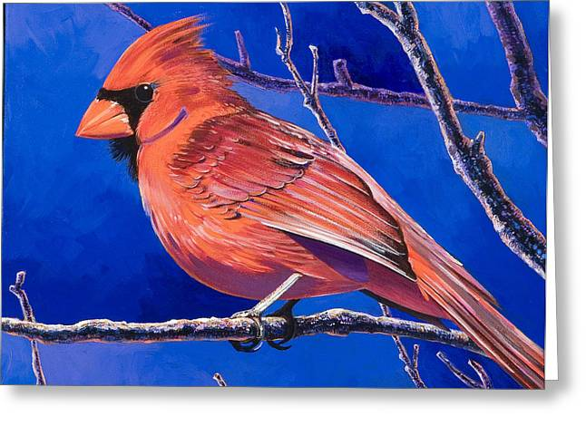 Imaginary Realism Greeting Cards - Cardinal Greeting Card by Bob Coonts