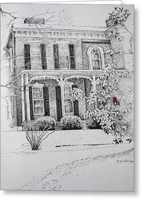Patsy Sharpe Greeting Cards - Cardinal Greeting Card by Patsy Sharpe