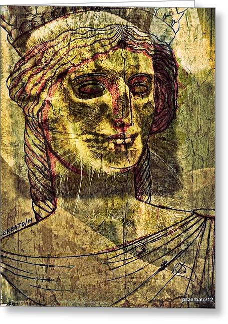 Women Of Caria Greeting Cards - Cariatides Muertas II Greeting Card by Paulo Zerbato