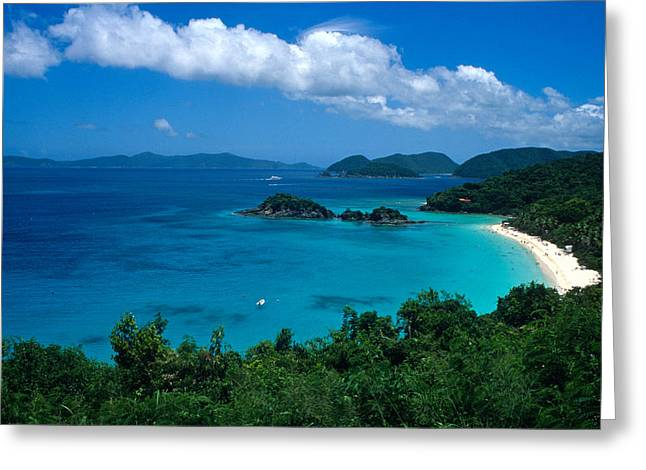 Beach Photos Greeting Cards - Caribbean Blue Greeting Card by Kathy Yates